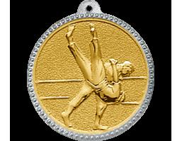 Медали с цветными рельефными вставками 3372 Дзюдо